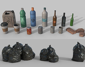 3D asset Urban Garbage Small Pack