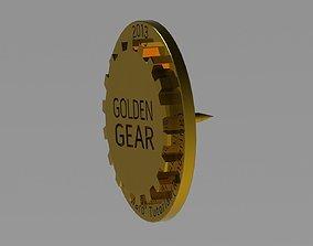 3D printable model Golden Gear lapeltie pin