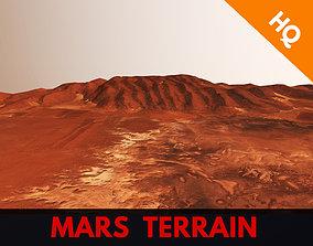 3D asset Mars Planet Hills Surface Terrain Landscape 2