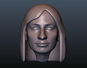 3D printable model Female head 6