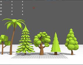 Lowpoly Trees 3D model