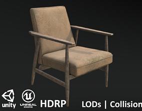 Soviet Armchair Lisek Damaged 3D asset