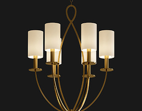 3D model Castana Collection 6 Light Gold Chandelier with 1