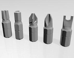 3D model Screwdriver Screw Heads 01