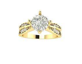 RING DIAMOND engagement-ring 3D printable model