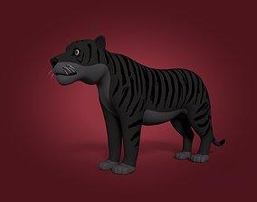 Cartoon Black Tiger 3D model