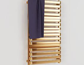 Heated towel rail 3D model bathroom