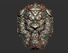 lion head 3D print model cnc