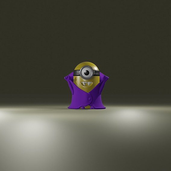 Minion Vampire for 3d printing