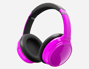 3D model Headphone Purple Lowpoly Pbr Subdivision Ready