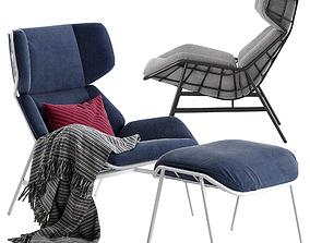 Varaschin Summer Set bergere armchair 3D model