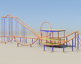 Roller coaster VR 3D model