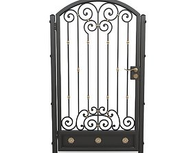 Wrought iron gate 06 3D