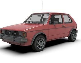 Volkswagen Rabbit car 3D asset