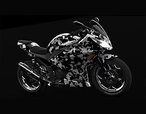 3D model kawasaki ninja300 moto