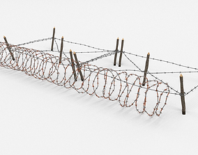 fortification 3D Barb Wire Obstacle