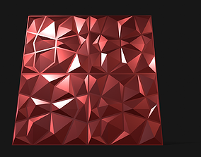 Wall Panel decor 3D model VR / AR ready