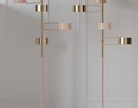 3D model Creativemary BROMPTON Brass Floor Lamp