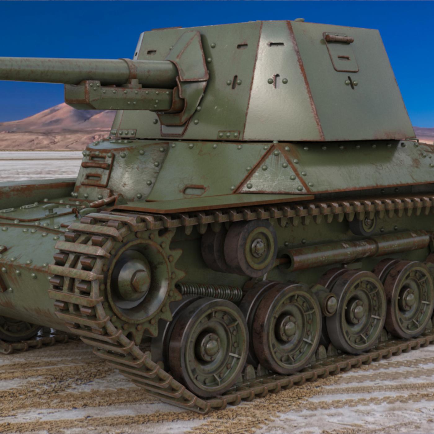 Tank Type 3 Ho Ni III Japan Vray