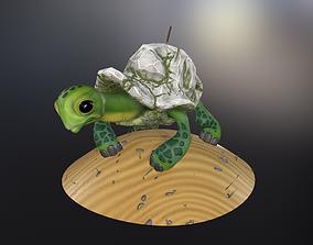 3D asset Stone turtle