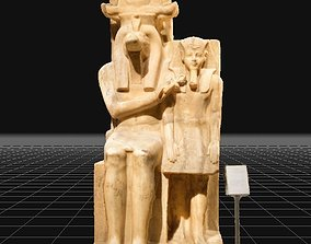 Real Scan Statue of Amenhotep iii with god Sobek 3D