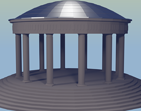 Rotunda 3D model exterior