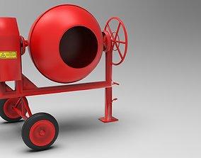machinery 3D model cement mixer