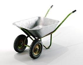 Old wheelbarrow 3D