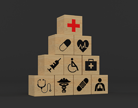 3D model Icons Healthcare
