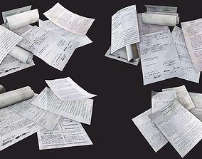 3D asset Paper Debris