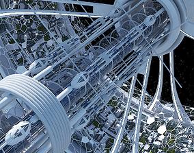 3D Futuristic Space Colony B