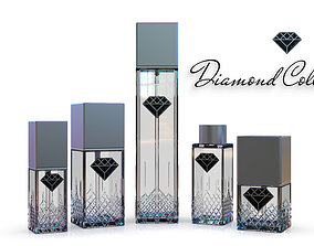 3D model Diamond Collection cosmetics bottles