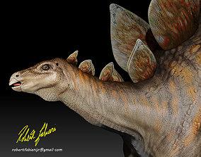 Accurate Stegosaurus 3D asset