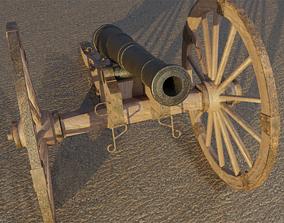3D model Civil War Field Cannon