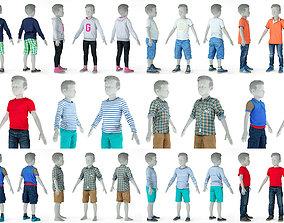 8 Kid Clothing Items 3D model