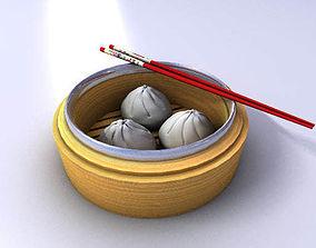 3D Chinese Oriental Bun Dim Sum