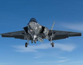 3D model rigged Powerful F35CF