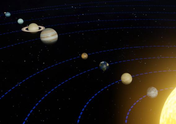 Solar System Blender EEVEE Scene