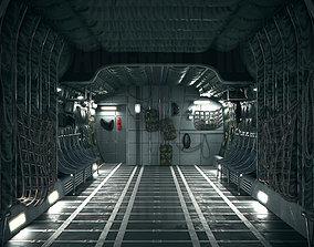 C-130 Hercules Cargo Aircraft Interior PBR 3D model