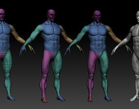 Human Base mesh - Game Ready - UE4 Mannequin 3D model