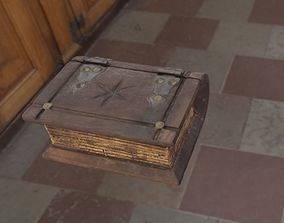 Old wood-Book Chest 3D model