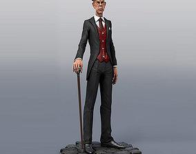 Evil male character 3D asset