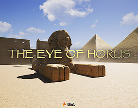 3D asset low-poly The Eye Of Horus - Blender and FBX