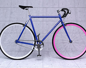 Fixed gear bicycle 3D