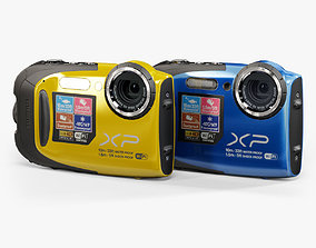 Fujifilm FinePix XP70 rugged and proof digital 3D asset