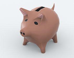 Piggy Bank 3D asset