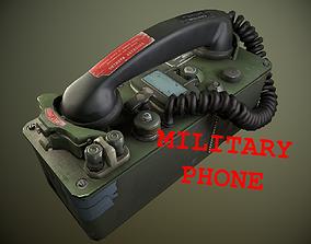 3D model Military Phone