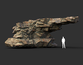 3D asset Low poly Brown Granite Rock 07 200104