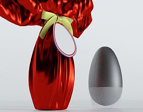 3D Chocolate Easter egg