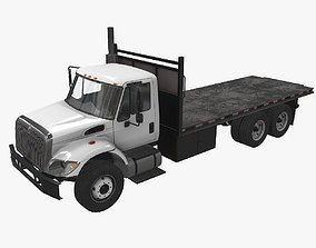 Flatbed Truck International 7400 3D model